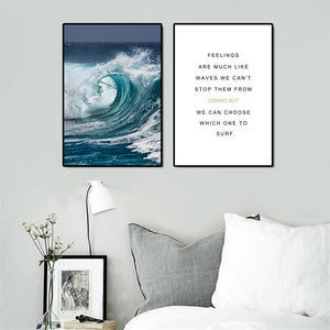 Modern Seascape Poster And Prints Wall Art Canvas Painting Wall Pictures For Living Room Nordic Home Decoration No Frame 50X70CM - SallyHomey Life's Beautiful