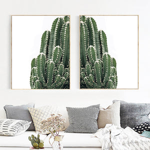 Fresh Cactus Tropical Succulents Plant Wall Art Canvas Painting Nordic Posters And Prints Wall Pictures For Living Room Decor - SallyHomey Life's Beautiful