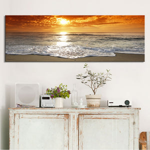 Modern Landscape Posters and Prints Wall Art Canvas Painting Sunrise Landscape at Sea Decorative Paintings for Living Room Decor - SallyHomey Life's Beautiful