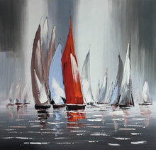 Load image into Gallery viewer, Wall Decoration Canvas Painting Modern Abstract Seascape Posters and Prints Wall Art Sailboat Pictures for Living Room Frameless - SallyHomey Life's Beautiful