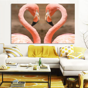 Animals Posters and Prints Wall Art Canvas Painting Beautiful Flamingos Decorative Pictures for Living Room Home Decor No Frame - SallyHomey Life's Beautiful
