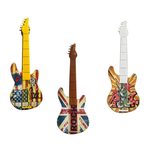 Nostalgic Vintage Wall Decoration Accessories Creative Guitar Figurines Handicrafts Musical Instrument Ornament Crafts Gifts