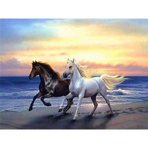 DIY 5D Diamond Painting Horse In Running Diamond Embroidery  Cross Stitch Kits Animal Mosaic Rhinestones Wall Sticker Home Decor - SallyHomey Life's Beautiful