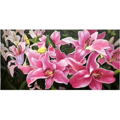 100% Hand Painted Realist Flower Art Oil Painting On Canvas Wall Art Frameless Picture Decoration For Live Room Home Decor Gift