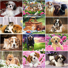 Load image into Gallery viewer, DIY 5D Diamond Painting Dog  Animal  Diamond Embroidery Cross Stitch Full Round Drill Mosaic Rhinestones Home Decor - SallyHomey Life's Beautiful