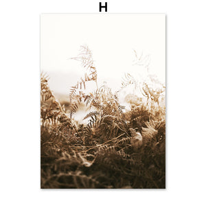Abstract Reed Grass Leaves House Lamb Nordic Posters And Prints Wall Art Canvas Painting Wall Pictures For Living Room Decor - SallyHomey Life's Beautiful