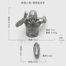 Load image into Gallery viewer, Running Man Racing Against Time Fgurine Creative Statue  Wall Decoration Emboss 3D Figures Wall Hanging Sculpture Ornament - SallyHomey Life's Beautiful