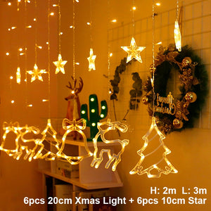 Elk Bell String Light LED Christmas Decor For Home Hanging Garland Christmas Tree Decor Ornament 2019 Navidad Xmas Gift New Year - SallyHomey Life's Beautiful