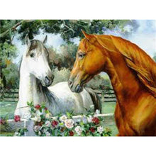 Load image into Gallery viewer, DIY 5D Diamond Painting Horse In Running Diamond Embroidery  Cross Stitch Kits Animal Mosaic Rhinestones Wall Sticker Home Decor - SallyHomey Life's Beautiful