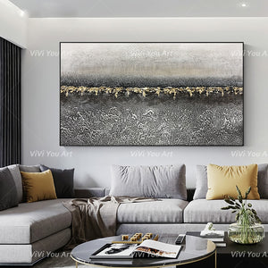 100% Hand Painted on canvas abstract landscape wall picture painting for living room Decor