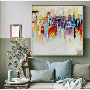 Vintage modern artwork oil painting on canvas handmade NOT PRINTS picture home deco cuadros decoracion dormitorio living room - SallyHomey Life's Beautiful