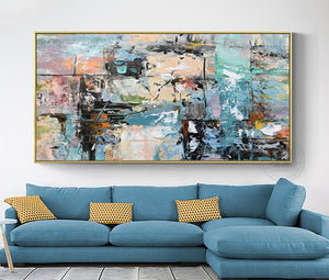 Hand painted oil on canvas painting wall picture decoration living room original wall art  laminas decorativas pared cuadros - SallyHomey Life's Beautiful