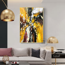 Load image into Gallery viewer, Abstract oil painting Original hand painted canvas oil painting yellow textured artwork for living room wall large wall decor - SallyHomey Life's Beautiful