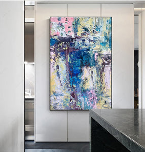 Abstract modern Laminas decorativas pared cuadros handmade canvas painting pictures for home decor for living room decoration - SallyHomey Life's Beautiful