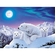Load image into Gallery viewer, DIY 5D Diamond Painting Polar Bear Full Round Drill Diamond Embroidery Cross Stitch Mosaic Animal Picture Rhinestone Home Decor - SallyHomey Life's Beautiful
