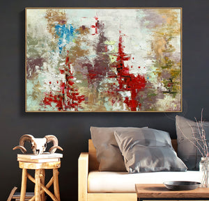 Original oil painting on canvas abstract handmade large paintings for living room wall decor quadros de parede para sala picture - SallyHomey Life's Beautiful