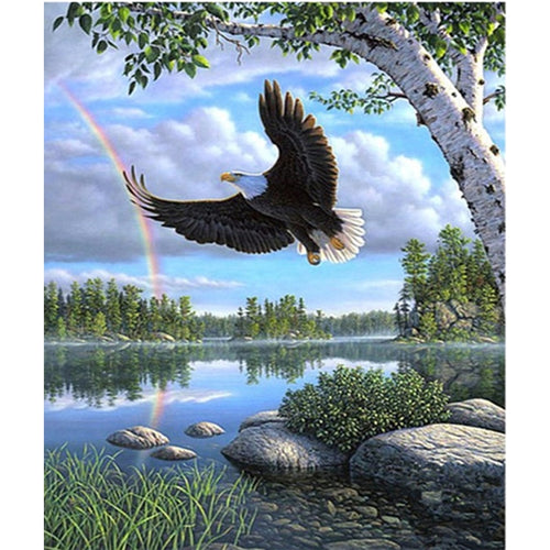 Diamond Embroidery Animals 5D Diamond Painting Full Round Drill Eagle Mosaic Bird Picture of Rhinestone Cross Stitch Home Decor