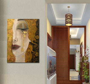 High quality Oil painting Canvas Reproductions Golden Tears - hand painted - SallyHomey Life's Beautiful