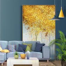 Load image into Gallery viewer, 100% Hand Painted Abstract Golden Trees Painting On Canvas Wall Art Frameless Picture Decoration For Live Room Home Decor Gift - SallyHomey Life's Beautiful