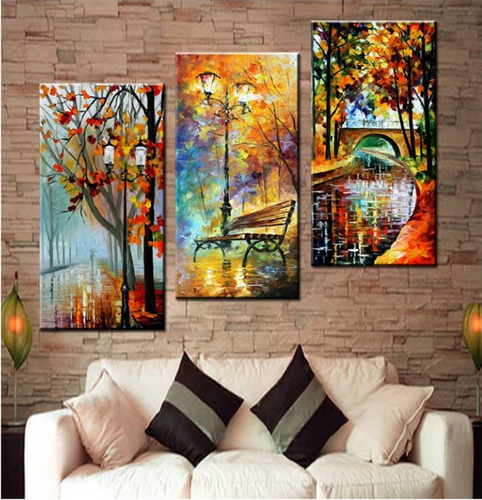 3d diy diamond painting Abstract Modern Wall Painting Rain Tree Road Oil Painting On Canvas Wall Decor Home Decoration, - SallyHomey Life's Beautiful