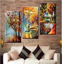 Load image into Gallery viewer, 3d diy diamond painting Abstract Modern Wall Painting Rain Tree Road Oil Painting On Canvas Wall Decor Home Decoration, - SallyHomey Life's Beautiful