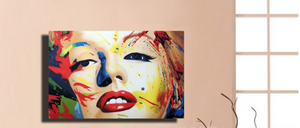 🔥Free shipping 100% Handpainted pop art oil painting on canvas Celebrity portrait painting - SallyHomey Life's Beautiful