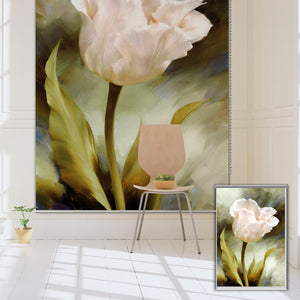 PAG Tulip Wall Decor Window Curtain Roller Shutters Flower Print Painting Roller Blind Background - SallyHomey Life's Beautiful