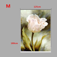 Load image into Gallery viewer, PAG Tulip Wall Decor Window Curtain Roller Shutters Flower Print Painting Roller Blind Background - SallyHomey Life's Beautiful