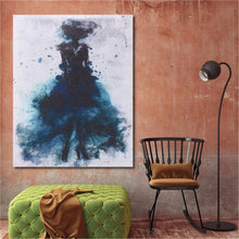 Load image into Gallery viewer, Fashion Green Girl Minimalist Abstract Art Canvas Oil Print Paintings Framed/Unframed - SallyHomey Life's Beautiful