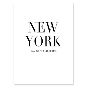 Modern New York London Paris City Map Wall Art Picture For Living Room Black and White Posters and Prints Home Decor - SallyHomey Life's Beautiful