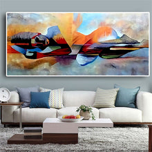 Load image into Gallery viewer, Watercolor Lord Buddha Abstract  Religious Posters and Prints on Canvas - SallyHomey Life's Beautiful