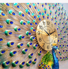 Load image into Gallery viewer, Large Peacock  Digital Wall Clocks - SallyHomey Life's Beautiful