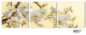 3 Panel Modern 3D white orchid Flower Painting On Canvas Wall Art Cuadros Flowers Picture Home Decor For Living Room No Frame - SallyHomey Life's Beautiful