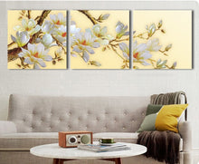 Load image into Gallery viewer, 3 Panel Modern 3D white orchid Flower Painting On Canvas Wall Art Cuadros Flowers Picture Home Decor For Living Room No Frame - SallyHomey Life's Beautiful
