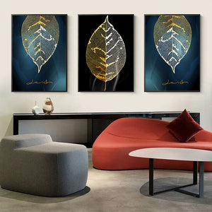 Sallyhomey  ART 3D Decorative Canvas Painting Wall Picture Gold Leaf Painting Posters And Canvas Printing For Living Room Bedroom - SallyHomey Life's Beautiful