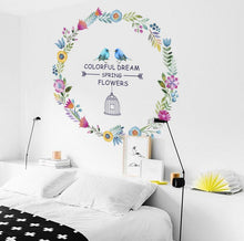 Load image into Gallery viewer, Adhesive 3d colorful wall stickers home decor removable wall pictures for living room girls bedroom wall decals - SallyHomey Life's Beautiful