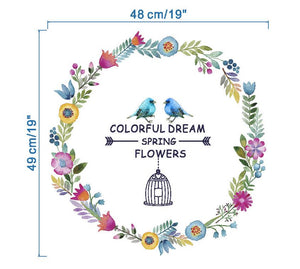 Adhesive 3d colorful wall stickers home decor removable wall pictures for living room girls bedroom wall decals - SallyHomey Life's Beautiful
