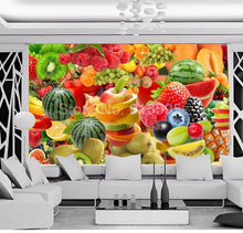 Load image into Gallery viewer, Custom Photo Self Adhesive Wallpaper Murals 3D Fruit Picture Wall Painting Living Room Restaurant Kitchen Decoration Large Mural - SallyHomey Life's Beautiful