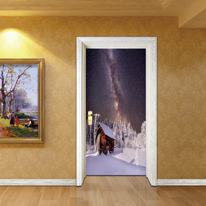 Christmas Tree Door Picture DIY  for Cafe Shop Home Decor - SallyHomey Life's Beautiful