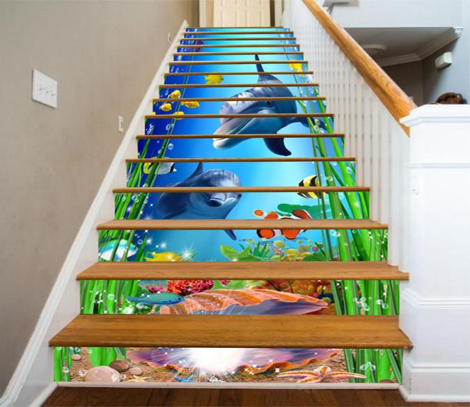 3D Dolphin Stair decor   13Pcs/set - SallyHomey Life's Beautiful