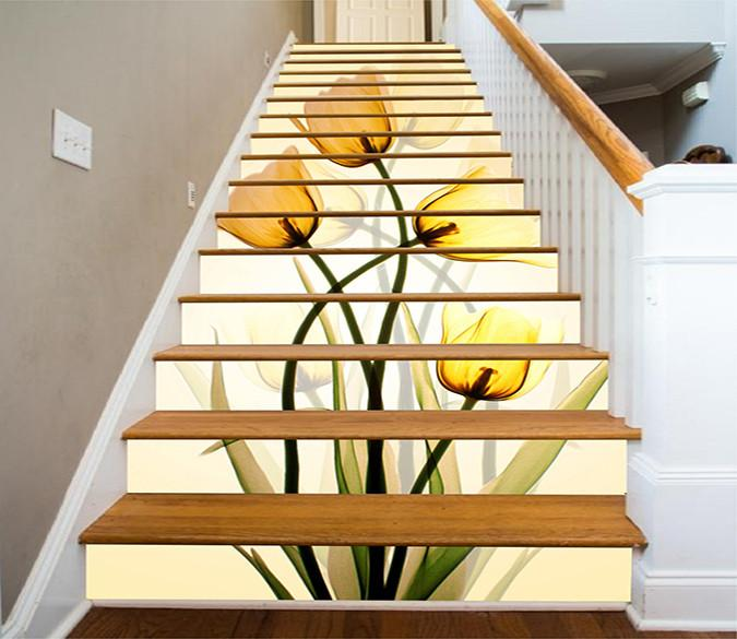 3D Tulip decoration Stair decor  13 Pcs/set - SallyHomey Life's Beautiful