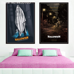 Halloween Poster Printed Painting - SallyHomey Life's Beautiful