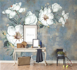 🔥3D Embossed White Flowers Oil Painting - SallyHomey Life's Beautiful
