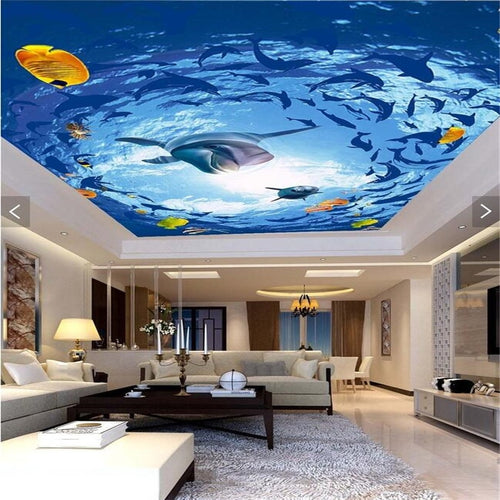 3D dolphin swimming ceiling - SallyHomey Life's Beautiful