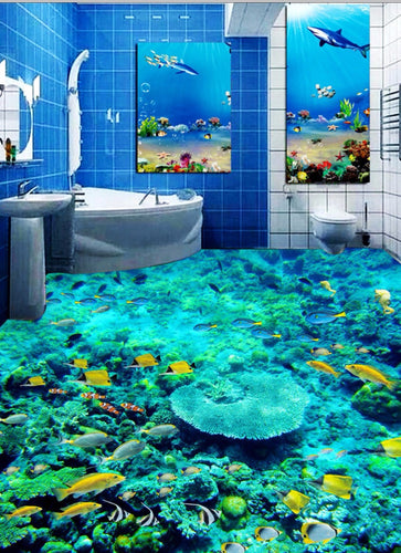 3D floor - underwater world - SallyHomey Life's Beautiful