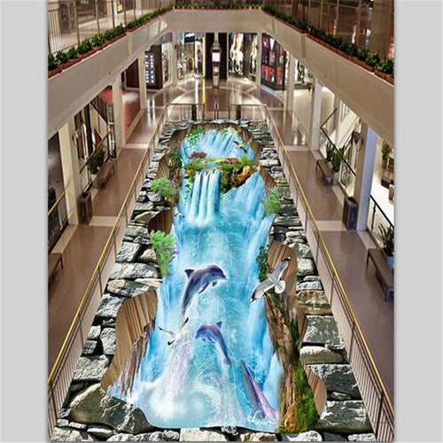 3D floor painting wall paper - SallyHomey Life's Beautiful