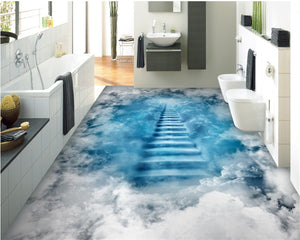 cloud ladder 3D floor painting self adhesive wallpaper - SallyHomey Life's Beautiful