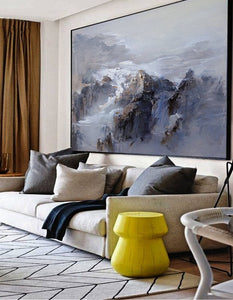 Extra Large wall art Abstract Painting Contemporary Art Blue Oil Painting Large Canvas Art Painting On Canvas Landscape Painting - SallyHomey Life's Beautiful