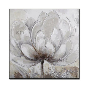 Hand Made Oil Painting On Canvas Abstract  Oil Painting  Modern Canvas Wall Art Living Room Decoration no Framed Flower Picture - SallyHomey Life's Beautiful