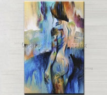 Load image into Gallery viewer, Top Artist Hand-painted High Quality Modern Abstract Sexy Girl Oil Painting On Canvas Nude Sex Oil Painting For Wall Decoration - SallyHomey Life's Beautiful